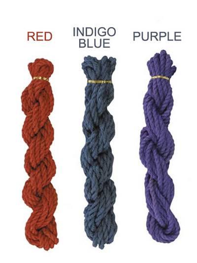 なめし麻縄ロープ 8m 紫+潮まねきセット